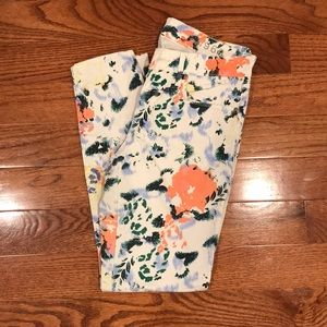 GAP 1969 Stretch floral Legging Jeans (Size 28r)